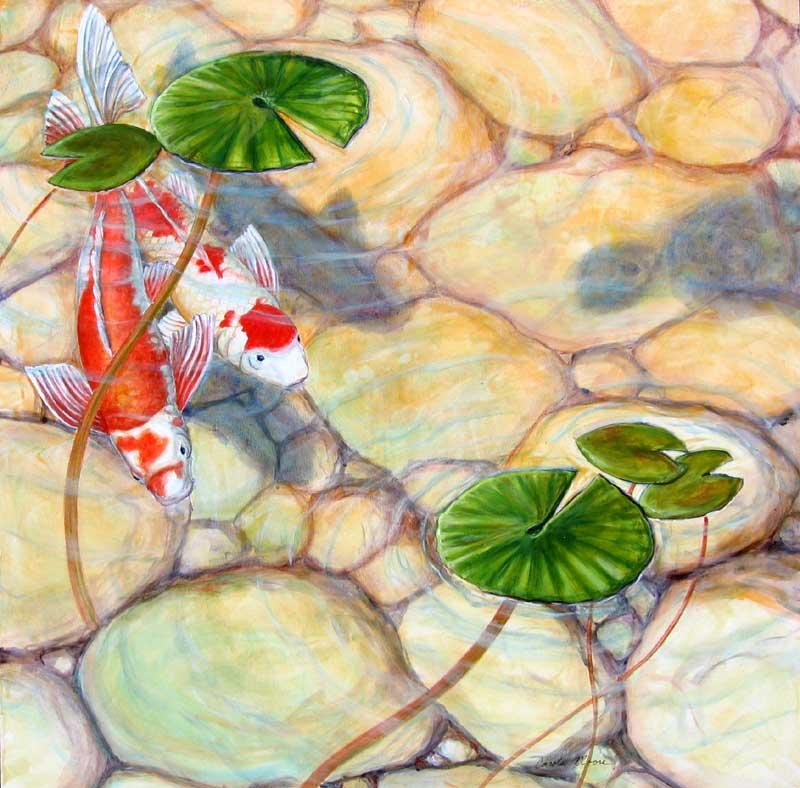 Koi Under Lily