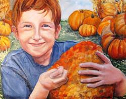 Rowan with Pumpkin