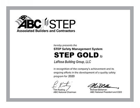 LaRosa Building Group LLC STEP CERT GRAY
