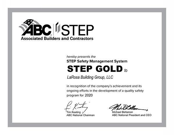 LaRosa Building Group LLC STEP CERT GRAY