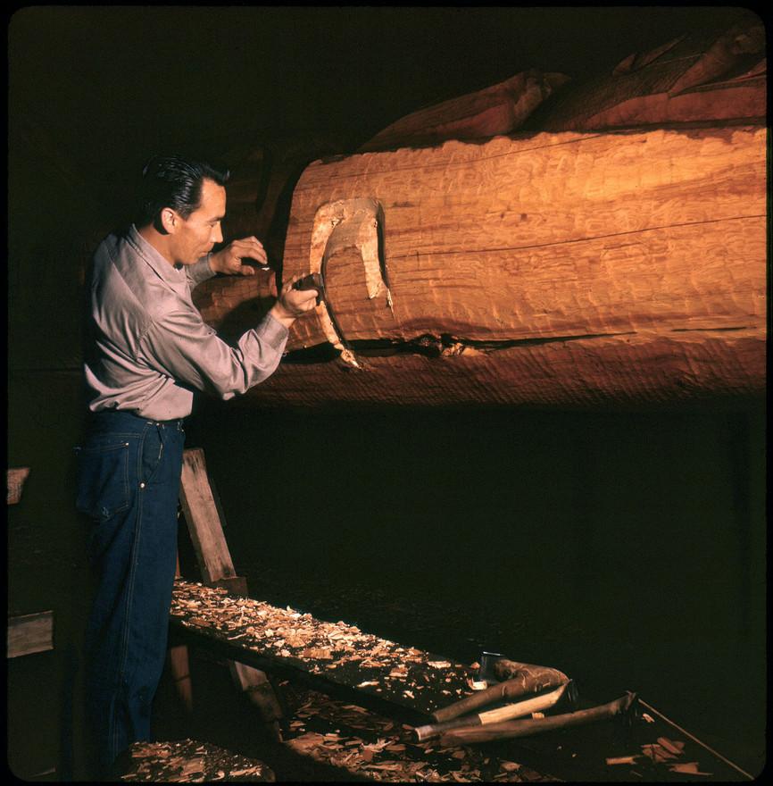 Henry Hunt carving at Wawadiťła