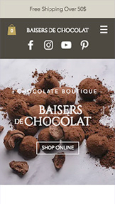 Food & Drinks website templates – Chocolate Boutique
