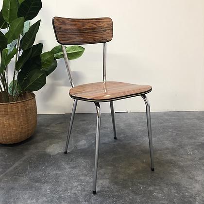 Chaise en Formica brun - C328