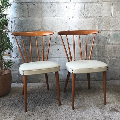 Paire chaises style scandinave -778