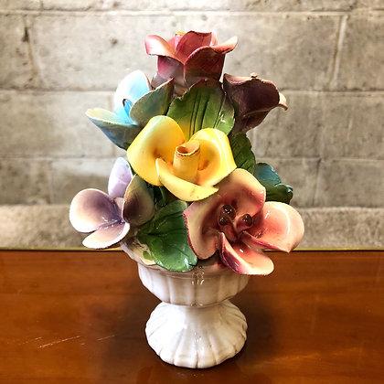 Bouquet roses porcelaine NUOVA CAPODIMONTE - 769