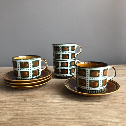 Set de 4 tasses/4 sous-tasses BOCH Bernadette - S316