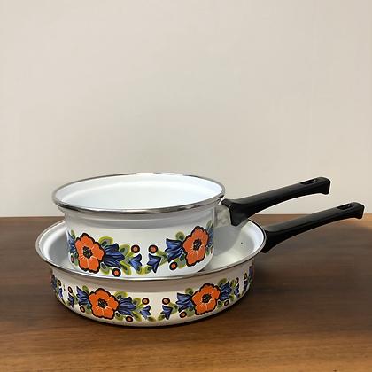 Set de 2 casseroles vintage - C154