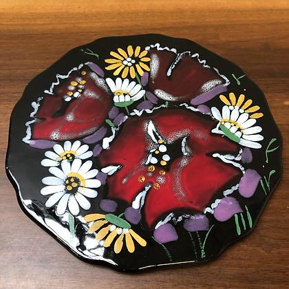 Plat en céramique fleuri - C187