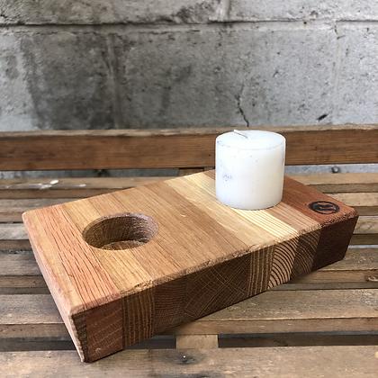 Bougeoir en bois 2 bougies - 476
