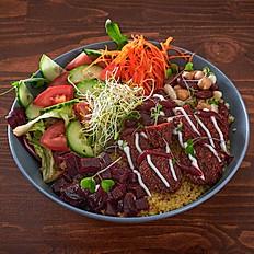 Red falafel bowl