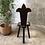Thumbnail: Chaise tripode en bois sculpté - 691
