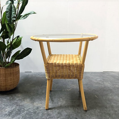 Table d'appoint bambou/rotin - S171