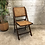 Thumbnail: Chaise pliante bois et cannage - S932