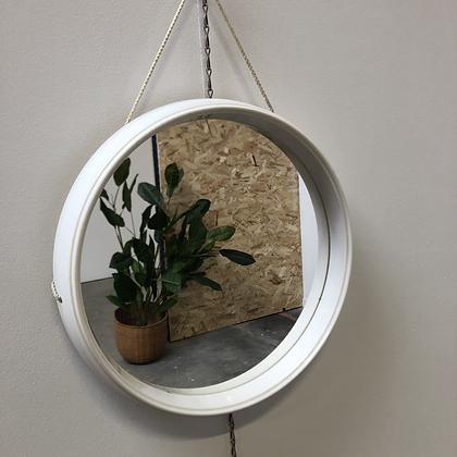 Miroir rond blanc - C203