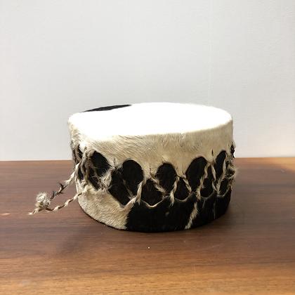 Ancien tambour en peau -C128