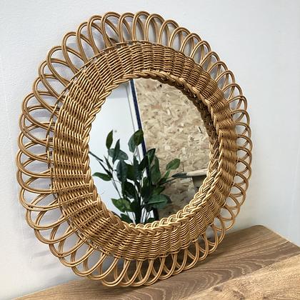 Miroir en rotin - S177
