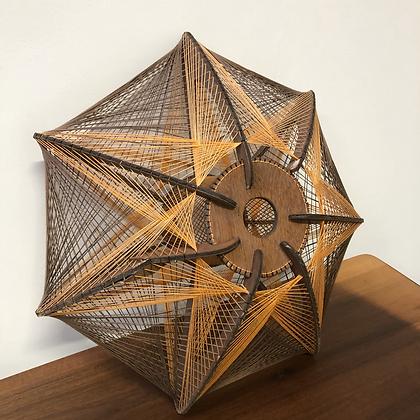 Suspension en bois et fil de coton - C157