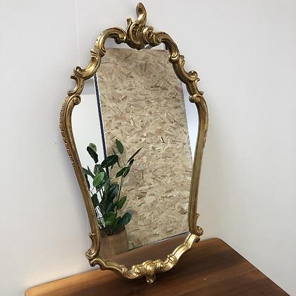 Miroir en bois doré baroque - S022