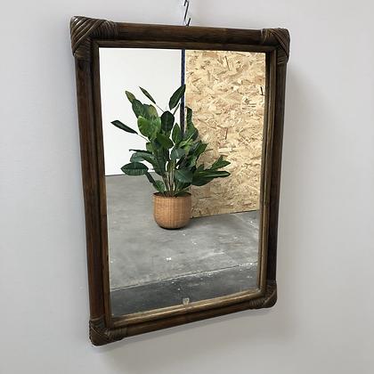 Miroir en bambou et rotin - S075
