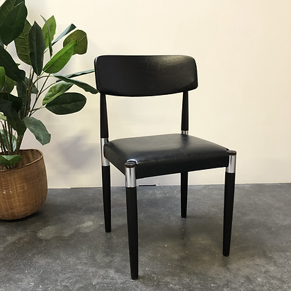 Chaise vintage simili cuir - S076