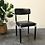 Thumbnail: Chaise vintage simili cuir - S076