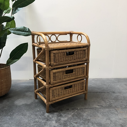 Meuble bas rotin/bambou - S360
