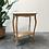 Thumbnail: Table d'appoint en bois aérogommé - S387