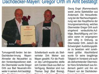 Vorstandswahlen Dachdecker-Innung Mayen-Ahrweiler