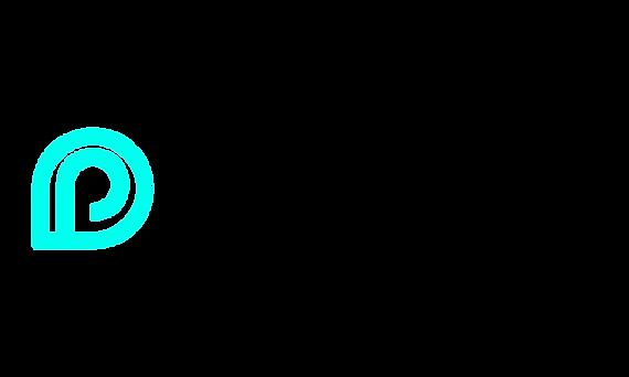 Pocket Fitness Black and Turquoise Logo.