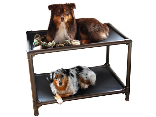 PVC Dog Bunk Bed (Walnut)