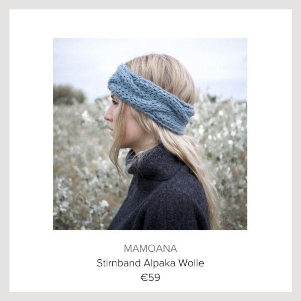 Mamoana Stirnband blau