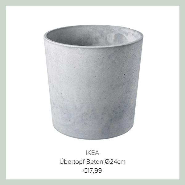 IKEA Uebertopf Beton