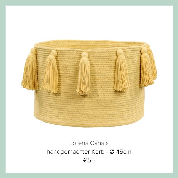 Lorena Canals Korb gelb  | myGiulia
