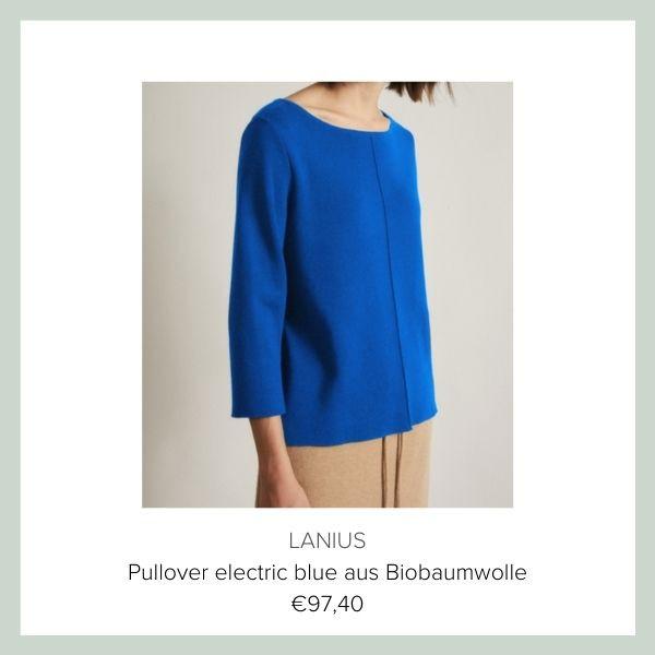 Lanius Biobaumwolle Pullover blau | myGiulia