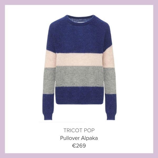 Tricot Pop Pullover gestreift blau | myGiulia