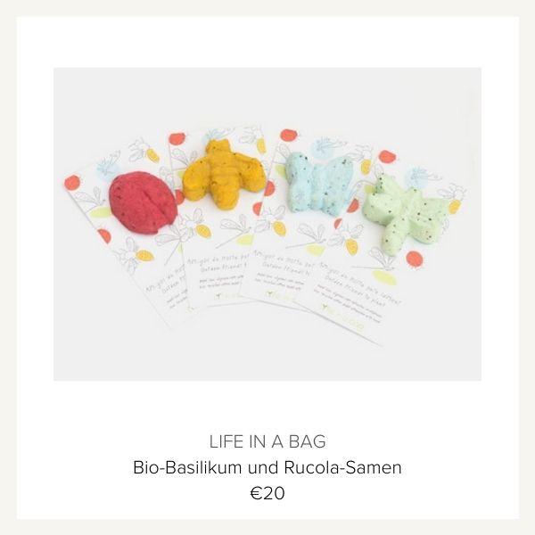 Life in a bag Basilikum Rucola Samen