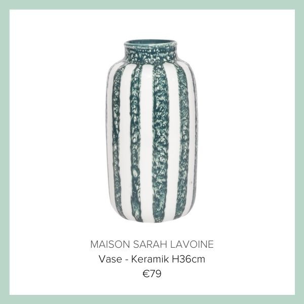 Sarah Lavoigne Vase Keramik streifen | myGiulia