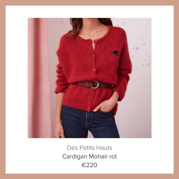 des Petits Hauts Cardigan rot | myGiulia