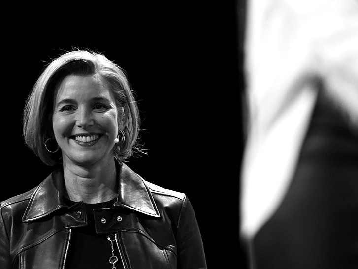 Sallie Krawcheck Co-founder and CEO of Ellevest speaks onstage during TechCrunch Disrupt NY 2016 at Brooklyn Cruise Terminal in New York City.