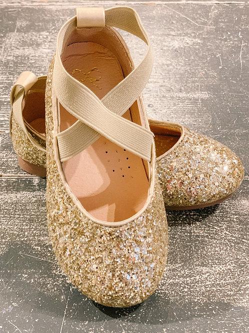Gold Glitter Ballerina Shoe