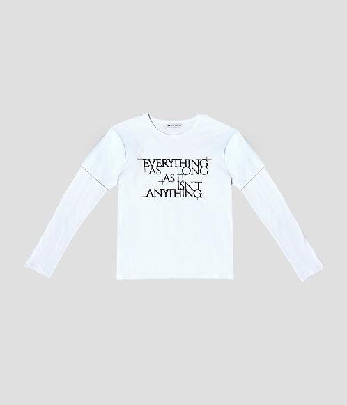 Tiered Shirt (White/ Black)