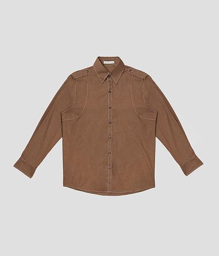 Varsity Button Up (Olive)