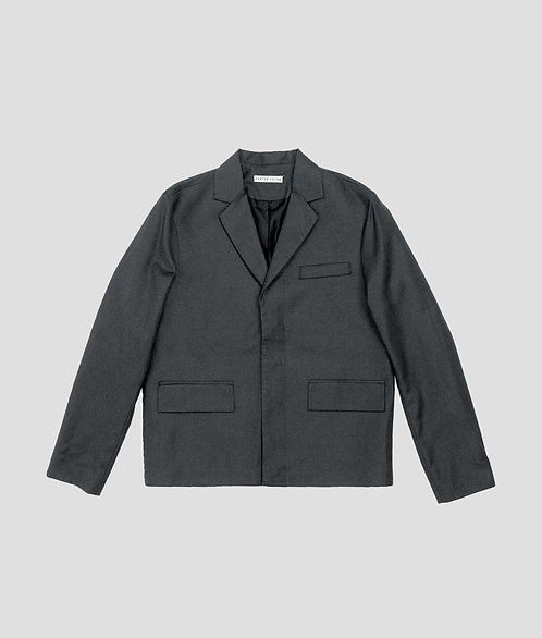 Cropped Blazer (Charcoal)