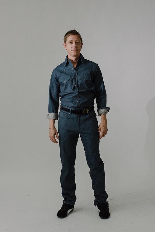 5 Pocket Jean (Jade Blue)