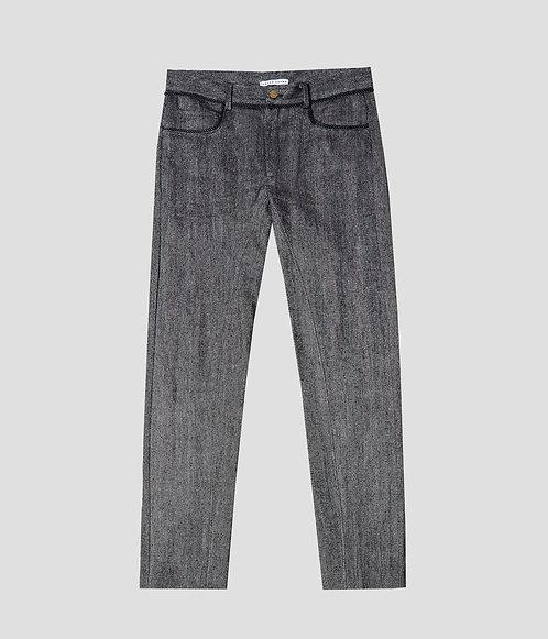 5 Pocket Jean (Rainy Day Herringbone)