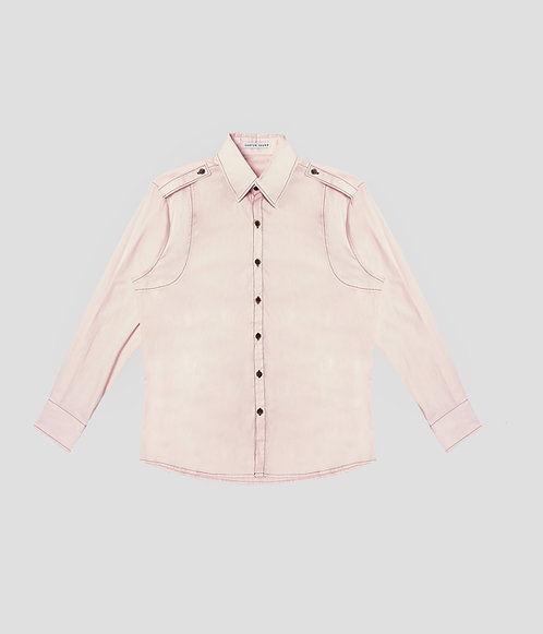 Varsity Button Up (Blush)
