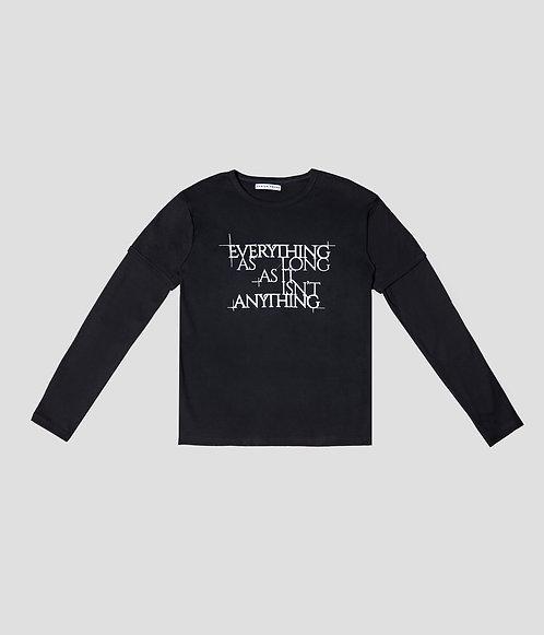 Tiered Shirt (Black/ White)