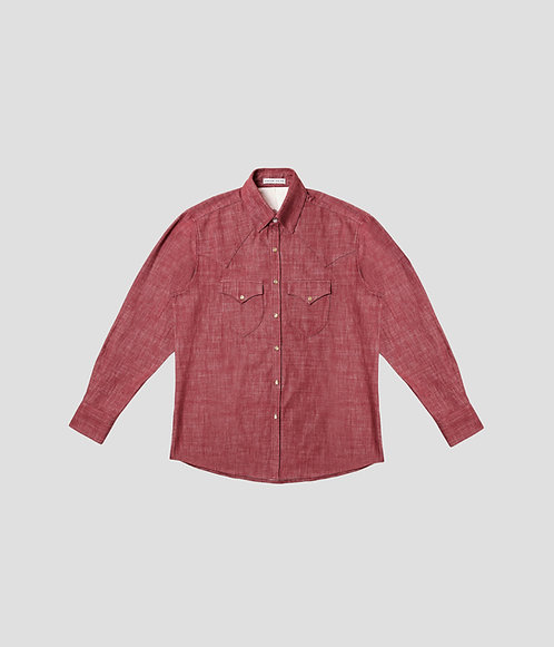 Western Denim Shirt (Brick)