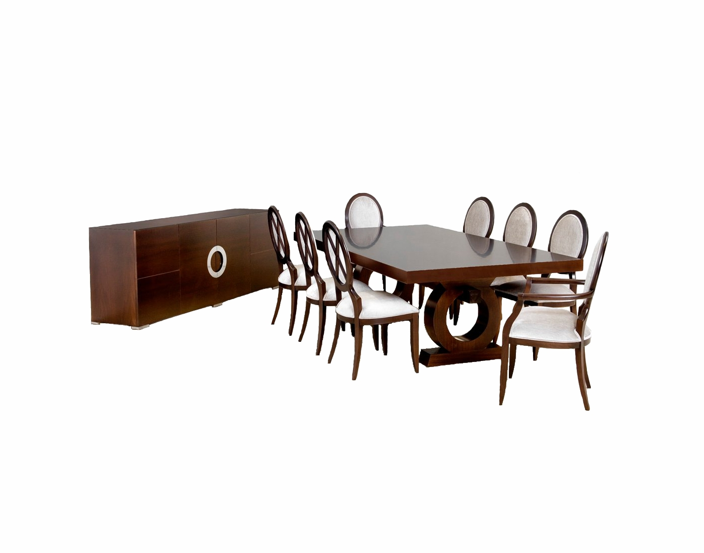 Coco Ext Table and sideboard with sabrina chairs