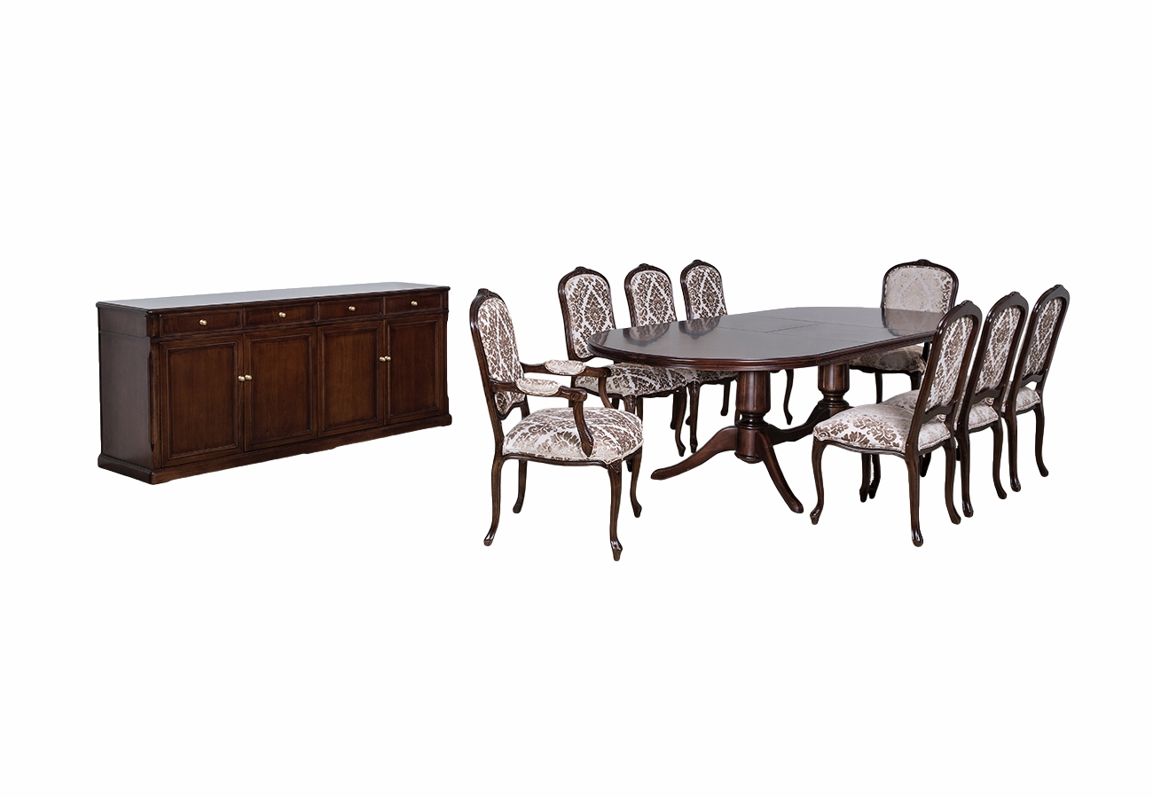 firenze table, sideboard and Victoria chairs